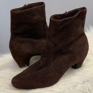 Sam Edelman Maddie brown suede leather boots 10M